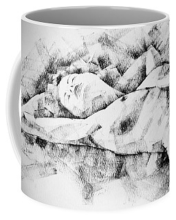 Lying Woman Figure Drawing Coffee Mug