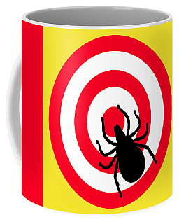 Lyme Disease Ixodes Tick On Target Coffee Mug by Richard Reeve