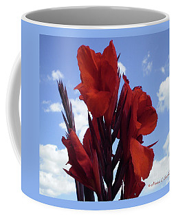 M Shades Of Red Flowers Collection No. R16 Coffee Mug