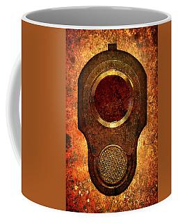 M1911 Muzzle On Rusted Background Coffee Mug
