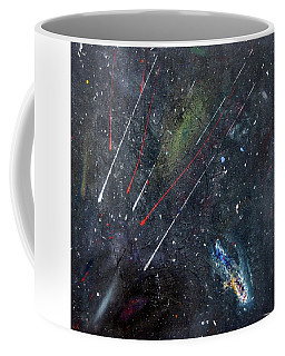 Coffee Mug featuring the painting M51 by Michael Lucarelli