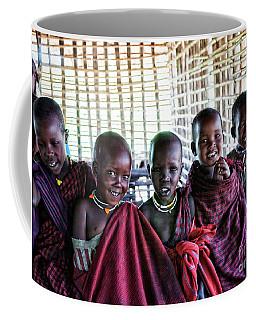 Coffee Mug featuring the photograph Maasai Children - Ngorongoro Conservation Area by Amyn Nasser