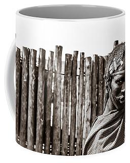 Coffee Mug featuring the photograph Maasai Man Ngorongoro Conservation Area Tanzania by Amyn Nasser