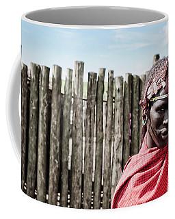 Coffee Mug featuring the photograph Maasai Man Ngorongoro No4117fv3 by Amyn Nasser