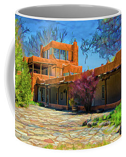Mabel's Courtyard As Oil Coffee Mug