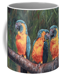 Coffee Mug featuring the painting Macaws by David Stribbling