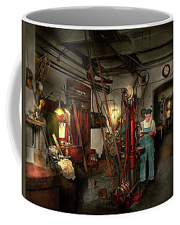 Coffee Mug featuring the photograph Machinist - Government Approved 1919 by Mike Savad