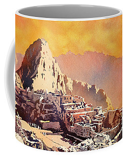 Coffee Mug featuring the painting Machu Picchu Sunset by Ryan Fox