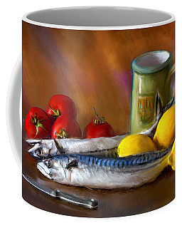Mackerels, Lemons And Tomatoes Coffee Mug
