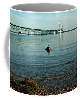 Coffee Mug featuring the photograph Mackinac Bridge Michigan by LeeAnn McLaneGoetz McLaneGoetzStudioLLCcom