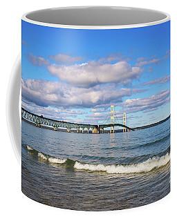 Mackinac Bridge Coffee Mug by Rachel Cohen