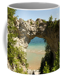 Mackinac Island Arch Coffee Mug