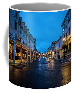 Mackinac Island Town At Dawn Coffee Mug