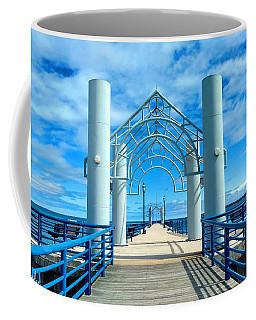 Mackinaw City Pier Coffee Mug by Michael Rucker
