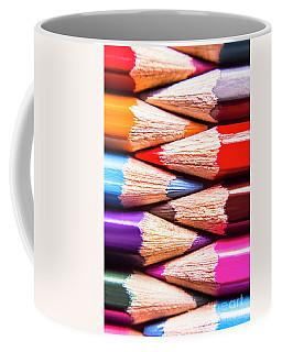 Macro Coloured Pencil Crossover Coffee Mug