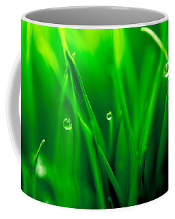 Macro Image Of Fresh Green Grass Coffee Mug