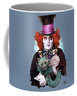 Mad Hatter And Cheshire Cat Coffee Mug