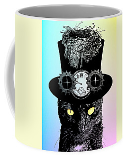 Mad Hatter Cat Coffee Mug