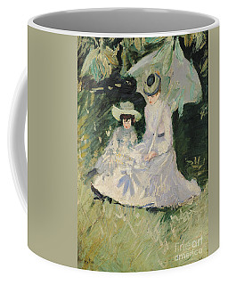 Madame Helleu And Her Daughter At The Chateau Of Boudran Coffee Mug