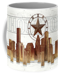 Made-to-order Houston Texas Skyline Wall Art Coffee Mug