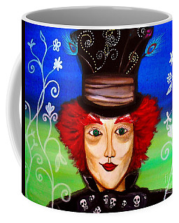 Coffee Mug featuring the painting Madhatter by Pristine Cartera Turkus