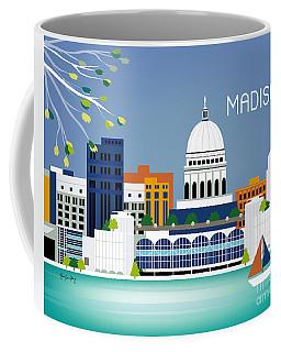 Madison Wisconsin Horizontal Skyline Coffee Mug