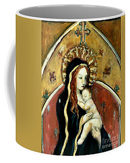 Madonna And Child Coffee Mug by Carrie Joy Byrnes