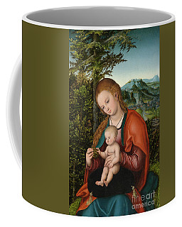 Madonna And Child In A Landscape Coffee Mug