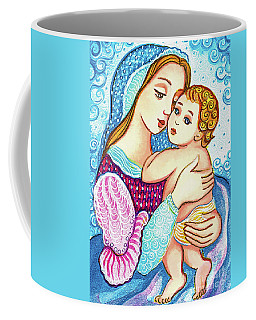Madonna And Child In Blue Coffee Mug