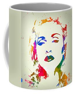 Madonna Color Paint Splatter Coffee Mug