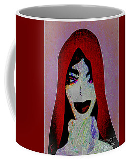 Coffee Mug featuring the mixed media Madonna Mary by Ann Calvo