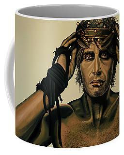 Mads Mikkelsen Painting Coffee Mug by Paul Meijering