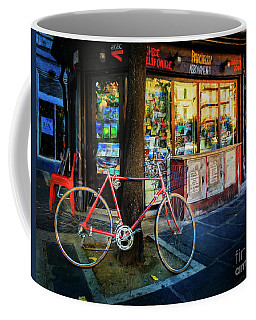 Magazine Stand Bicycle Coffee Mug