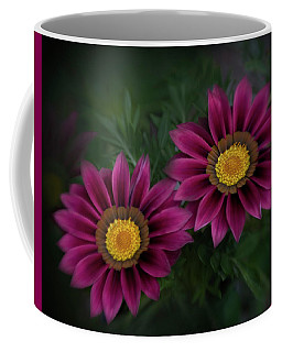 Coffee Mug featuring the photograph Magenta African Daisies by David and Carol Kelly