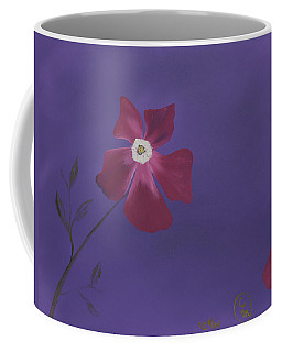 Magenta Flower On Plum Background Coffee Mug