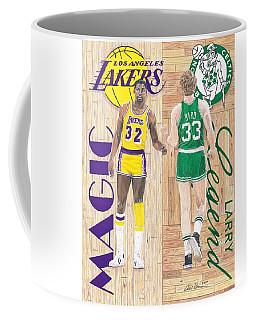 Magic Johnson And Larry Bird Coffee Mug