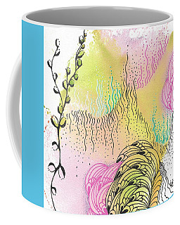Coffee Mug featuring the drawing Magic Mist by Jan Steinle