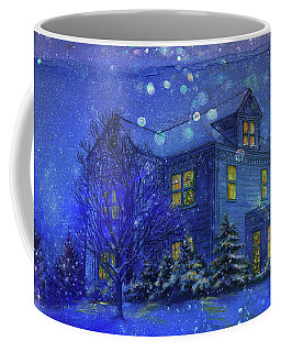 Magical Blue Nocturne Home Sweet Home Coffee Mug