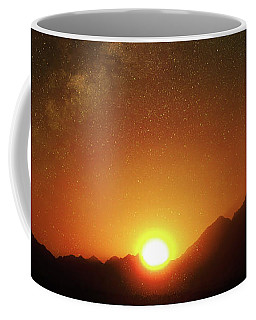 Magical Milkyway Above The African Mountains Coffee Mug