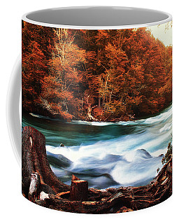 Autumnal Landscape With Lake In The Argentine Patagonia Coffee Mug