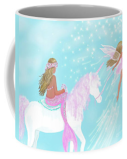 Coffee Mug featuring the painting Magical Play Day by Leslie Allen