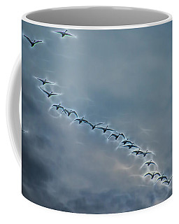 Magical Tundra Swan Fly-over Coffee Mug