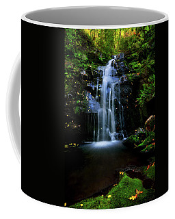 Magical Waterfall Above Spruce Falls In Tremont Smoky Mountains Tennessee  Coffee Mug