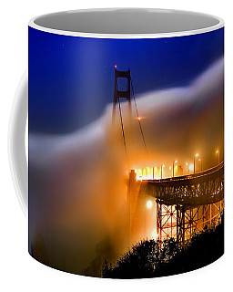 Magical Golden Gate Bridge In The Moonlight Coffee Mug