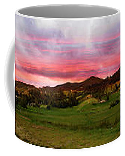 Magnificent Andes Valley Panorama Coffee Mug