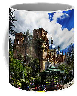 Coffee Mug featuring the photograph Magnificent Center Of Cuenca, Ecuador IIi by Al Bourassa