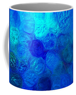 Magnified Blue Water Drops-abstract Coffee Mug