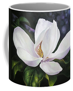 Coffee Mug featuring the painting Magnolia Flower by Chris Hobel