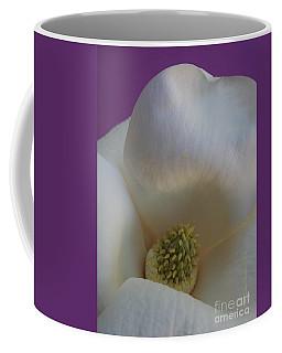 Magnolia Macro Against Purple Coffee Mug