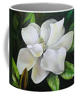 Magnolia Oil Painting Coffee Mug